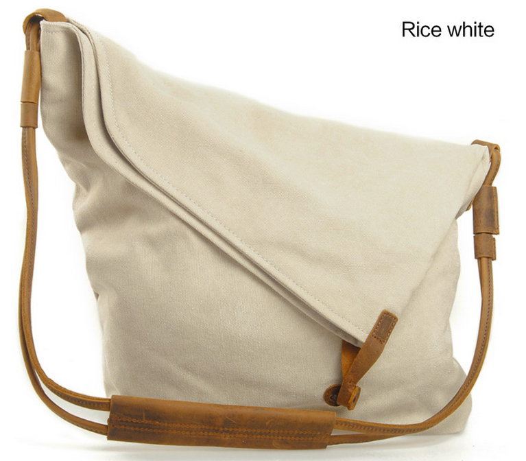 8822fbd98c Beige Vintage Retro Single shoulder bag Messenger Bag Hangbag Tote Bag  Genuine Canvas Bag -vb116